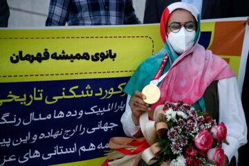 استقبال از زهرا نعمتی قهرمان پارالمپیک در کرمان