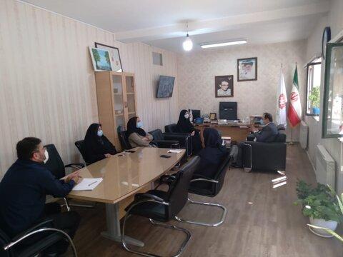 ساوجبلاغ   جلسه هماهنگی اداره فنی حرفه ای وبهزیستی شهرستان ساوجبلاغ
