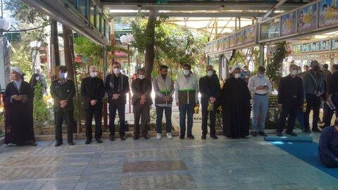 غبارروبی گلزار شهدا با حضور بسیجیان ادارات