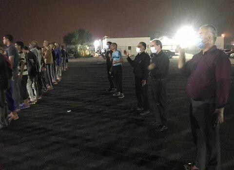 مرکز نگهداری و کاهش آسیب معتادین متجاهر در اربعین سرور و سالار شهیدان غرق در ماتم و عزای حسینی