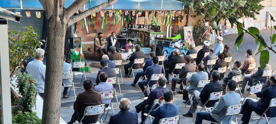 گزارش تصویری/  مراسم گرامی داشت هفته دفاع مقدس و ایام اربعین حسینی