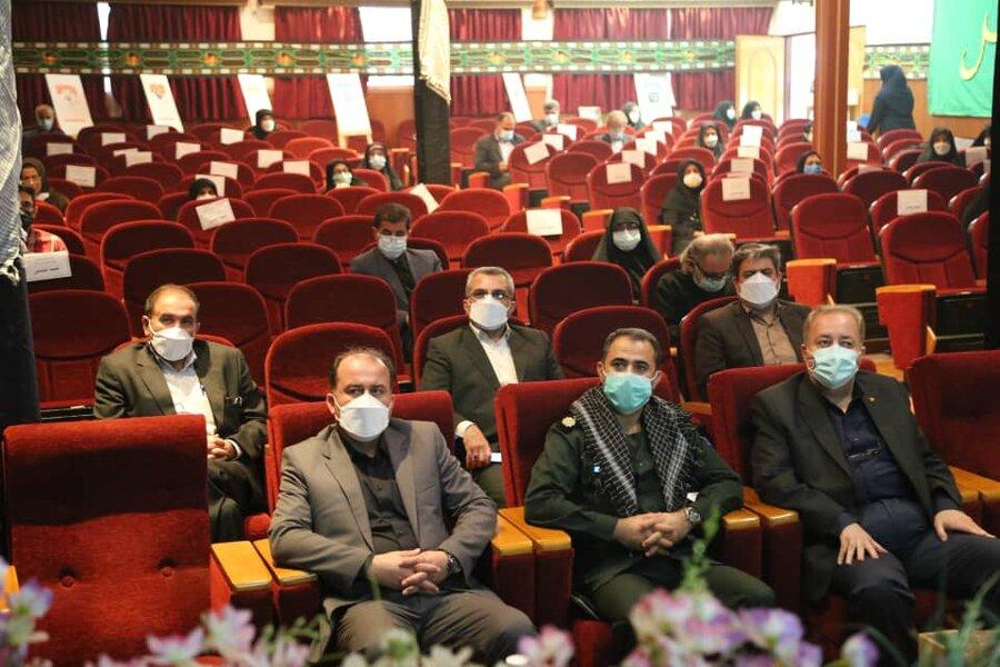 مراسم عزاداری اربعین حسینی و گرامیداشت هفته دفاع مقدس در بهزیستی مازندران برگزار شد