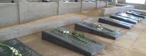 فیروزکوه| برگزاری آئین غبار روبی و گلباران مزار مطهر شهدا