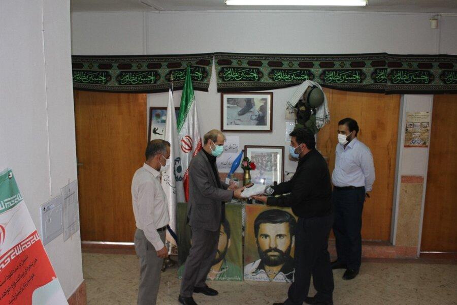تقدیر از ایثارگران شاغل در بهزیستی ورامین