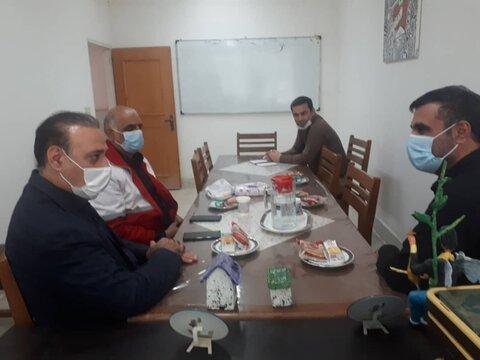 کهک| حضور معاون امور داوطلبان جمعیت هلال احمر استان در بهزیستی شهرستان کهک