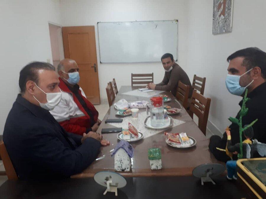 کهک  حضور معاون امور داوطلبان جمعیت هلال احمر استان در بهزیستی شهرستان کهک