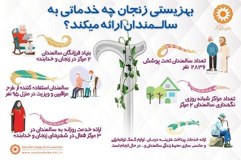 اینفوگرافی بهزیستی زنجان چه خدماتی به سالمندان ارائه می کند؟
