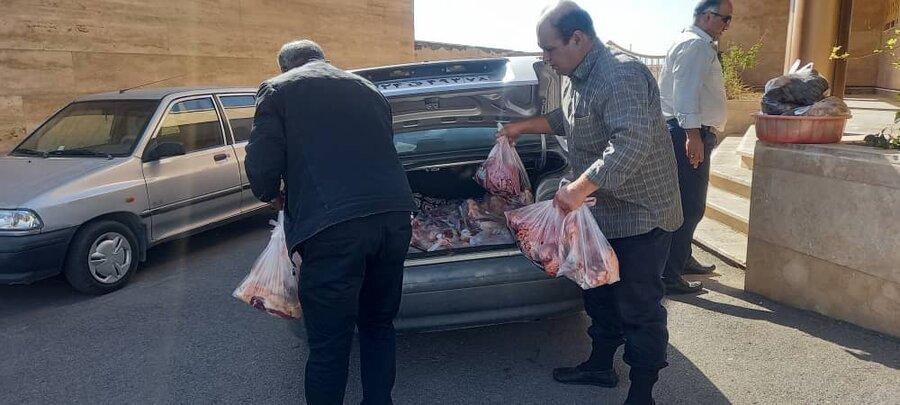 فیروزکوه| اهدای پنج رأس گوسفند به نیازمندان جامعه هدف