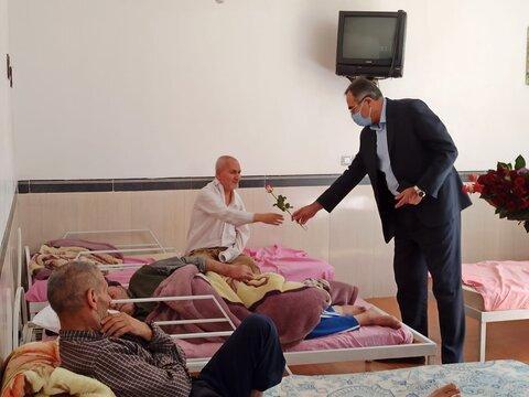 گزارش تصویری/ بازدید فرماندار از سرای سالمندان علوی آذرشهر