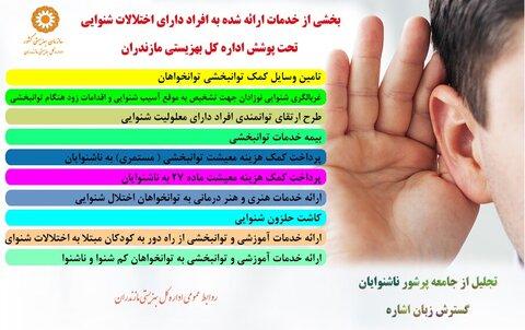 اینفوگرافیک│حمایت و ارائه خدمات بهزیستی مازندران به ناشنوایان استان