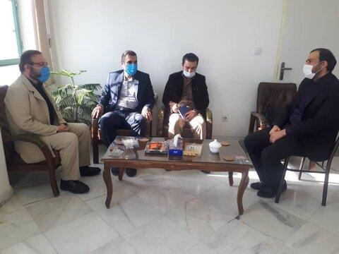 کهک :دیدار سرپرست بهزیستی شهرستان کهک با رئیس دادگستری شهرستان