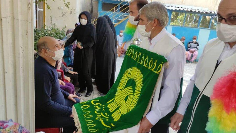 شهریار | حضور خدام رضوی در آسایشگاه سالمندان