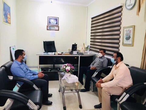 دیر|اعضای شورای اسلامی شهر آبدان و بردستان با رئیس اداره بهزیستی شهرستان دیّر دیدار کردند