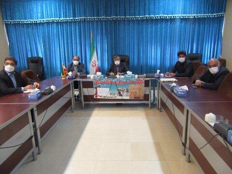 گزارش تصویری/ نشست ستاد مناسب سازی و شورای سالمندان بهزیستی در بستان آباد