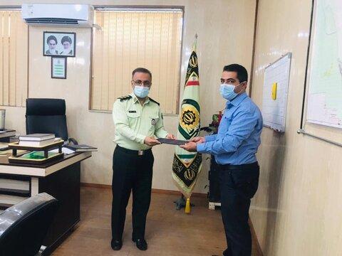 دیر|دیدار رئیس و کارکنان اداره بهزیستی با فرماندهی نیروی انتظامی به مناسبت هفته ناجا