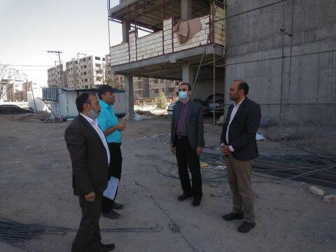 بازدید مدیر کل بهزیستی قم از پروژه های مسکن مددجویی