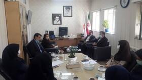 مدیر اداره حراست و مسئول بازرسی بهزیستی البرز از بهزیستی شهرستان ساوجبلاغ بازدید کردند