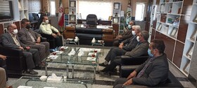دیدار مدیرکل بهزیستی کردستان به مناسبت هفته نیروی انتظامی با سردار آزادی فرمانده این نیرو در استان