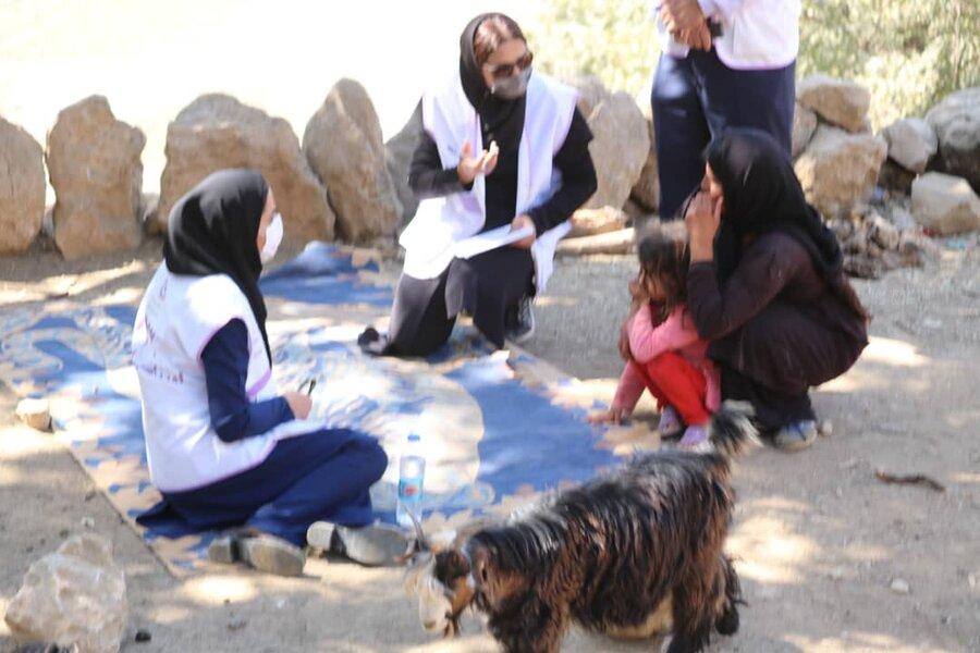 حضور تیم سیار اورژانس اجتماعی  مسجدسلیمان در مناطق زلزله زده شهرستان اندیکا
