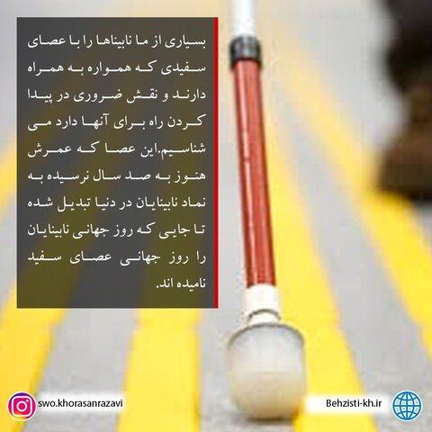 اینفوگرافیک | روز جهانی عصای سفید
