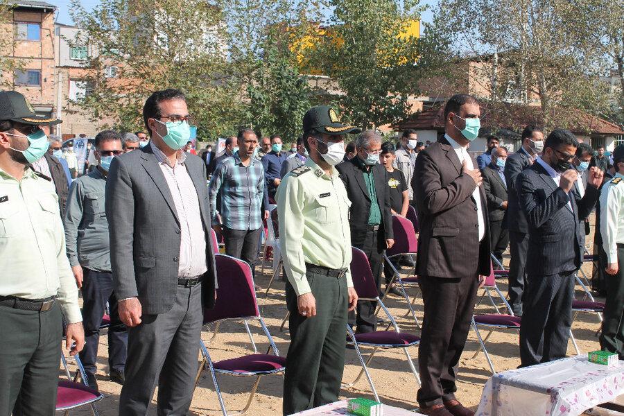 مراسم امحاء انواع مواد مخدر و روانگردان ها در شهرستان نکا برگزار شد