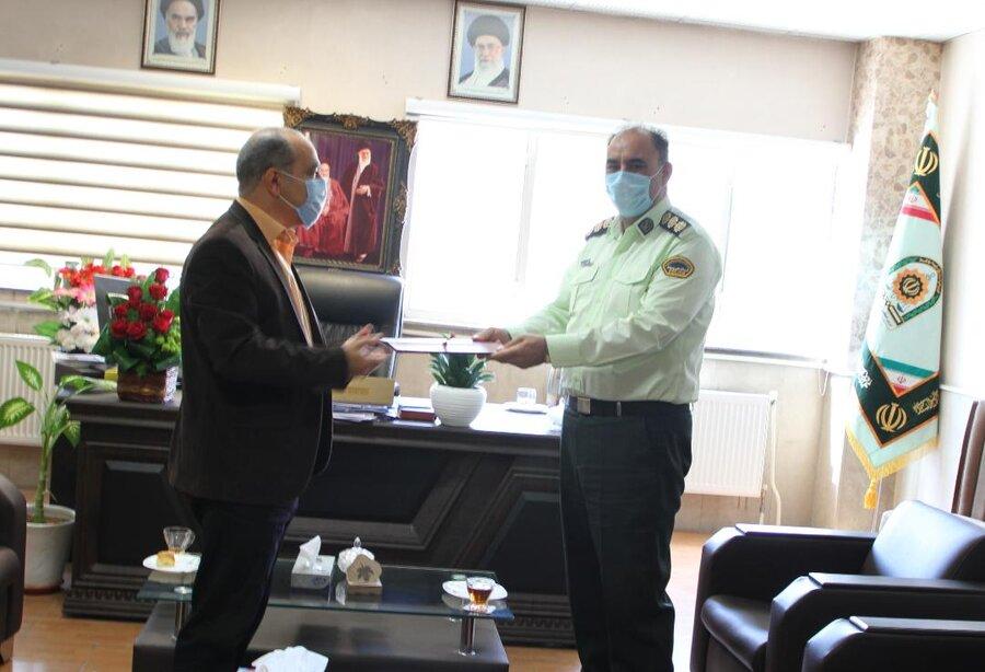 رباط کریم  دیدار رئیس بهزیستی و مسئول اورژانس اجتماعی با فرماندهی انتظامی شهرستان