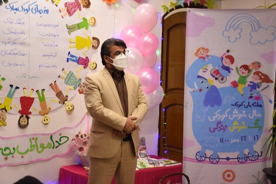 برگزاری جشن هفته ملی کودک در دو مرکز کودکان بهزیستی در مشهد