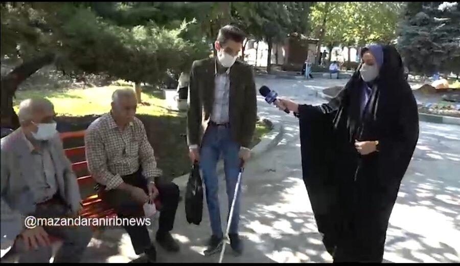 ویدئو| گزارش صدا و سیما  مرکز استان مازندران به مناسبت روز جهانی عصای سفید