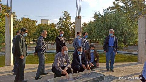 گزارش تصویری/ حضور در مزار شهدای گمنام در جلفا به مناسبت هفته سلامت