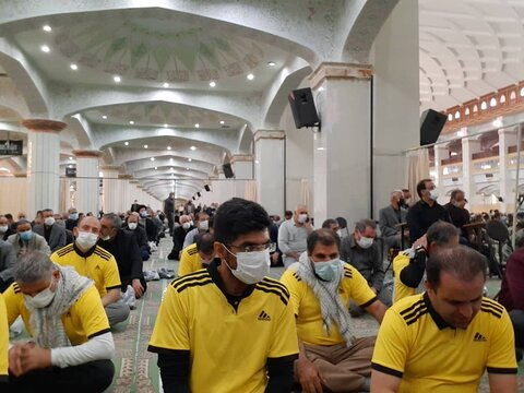گزارش تصویری/ حضور نابینایان و جانبازان شرکت کننده در همایش دوچرخه سوای در نمازجمعه تبریز