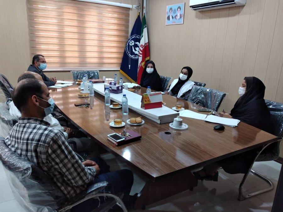 تنگستان نشست مشترک کمیته امداد اهرم با بهزیستی با هدف شناسایی ظرفیت های مشترک هر دو نهاد برگزار شد