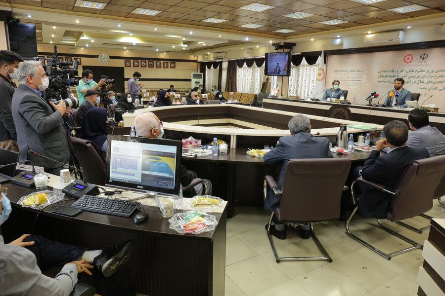 گزارش تصویری| نشست تخصصی وزیر رفاه و رئیس سازمان بهزیستی با جامعه نابینایان به مناسبت روز عصای سفید