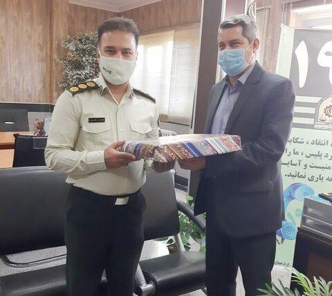 اردستان   دیدار رئیس و فرمانده نیروی انتظامی اردستان به مناسبت هفته ناجا