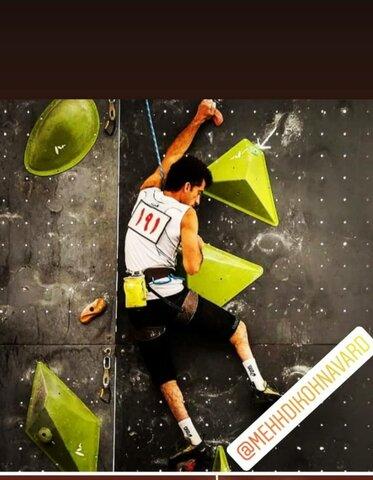 توانخواه ایلامی مقامدوم مسابقات سنگنوردی کشور را کسب کرد