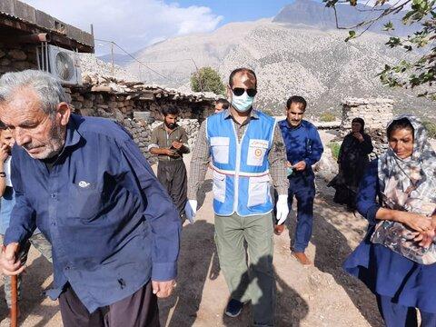بازدید نماینده رییس سازمان بهزیستی کشور از  منطقه زلزله زده اندیکا در استان خوزستان