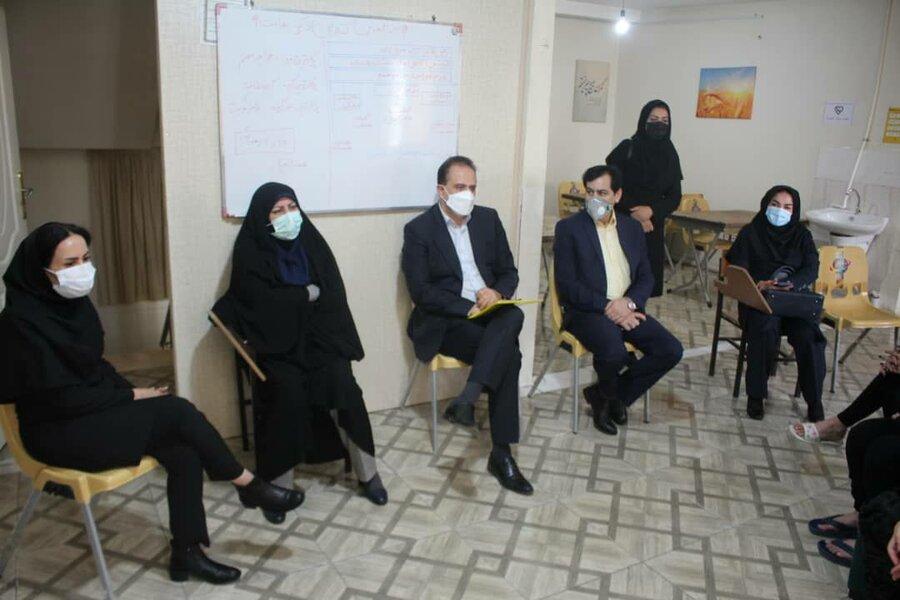 گزارش تصویری  بازدید رئیس مرکز توسعه و پیشگیری بهزیستی کشور از مرکز جامع درمان و بازتوانی اعتیاد زنان استان البرز