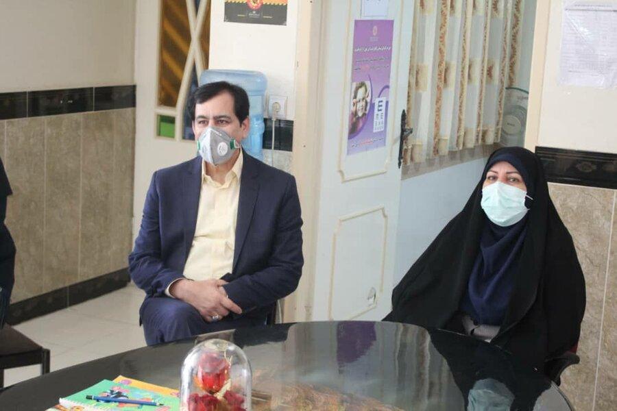 گزارش تصویری  بازدید رئیس مرکز توسعه و پیشگیری بهزیستی کشور از اجرای طرح غربالگری بینایی کودکان