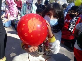 گزارش تصویری| جشن بادکنک ها ویژهکودکان ایلامی