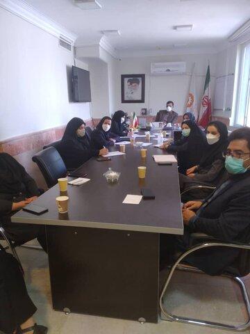 نظرآباد | جلسه توجیهی و ارزیابی عملکرد مراکز مثبت زندگی تحت نظارت بهزیستی نظرآباد