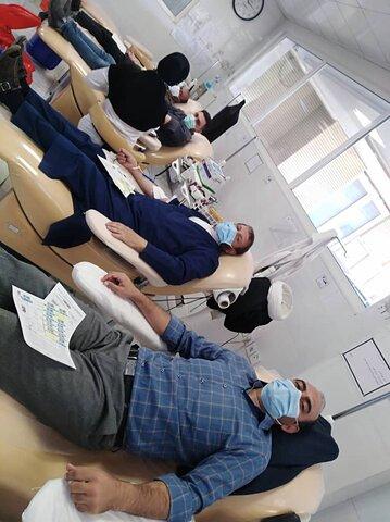 اهداء خون جمعی از کارکنان بهزیستی استان قم